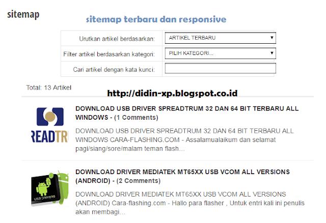Membuat Sitemap Otomatis Seo Responsive di Blogspot