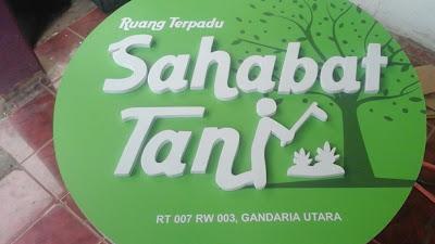Produksi Signage Sahabat Tani