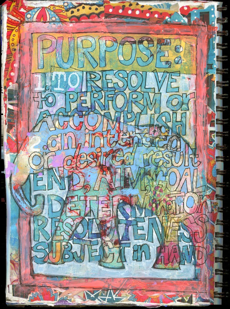 art journal ideas | art journal pages | get art journal inspiration → http://schulmanart.blogspot.com/2015/03/art-journal-ideas-defining-purpose.html