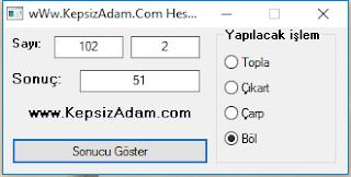 kepsizadam.com AutoIT hesap makinesi yapımı