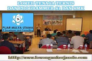 Info Kerja har ini PT. Pijar Mulya Utama Solo Lulusan S1 dan SMK