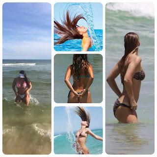Como as mulheres entram no mar.