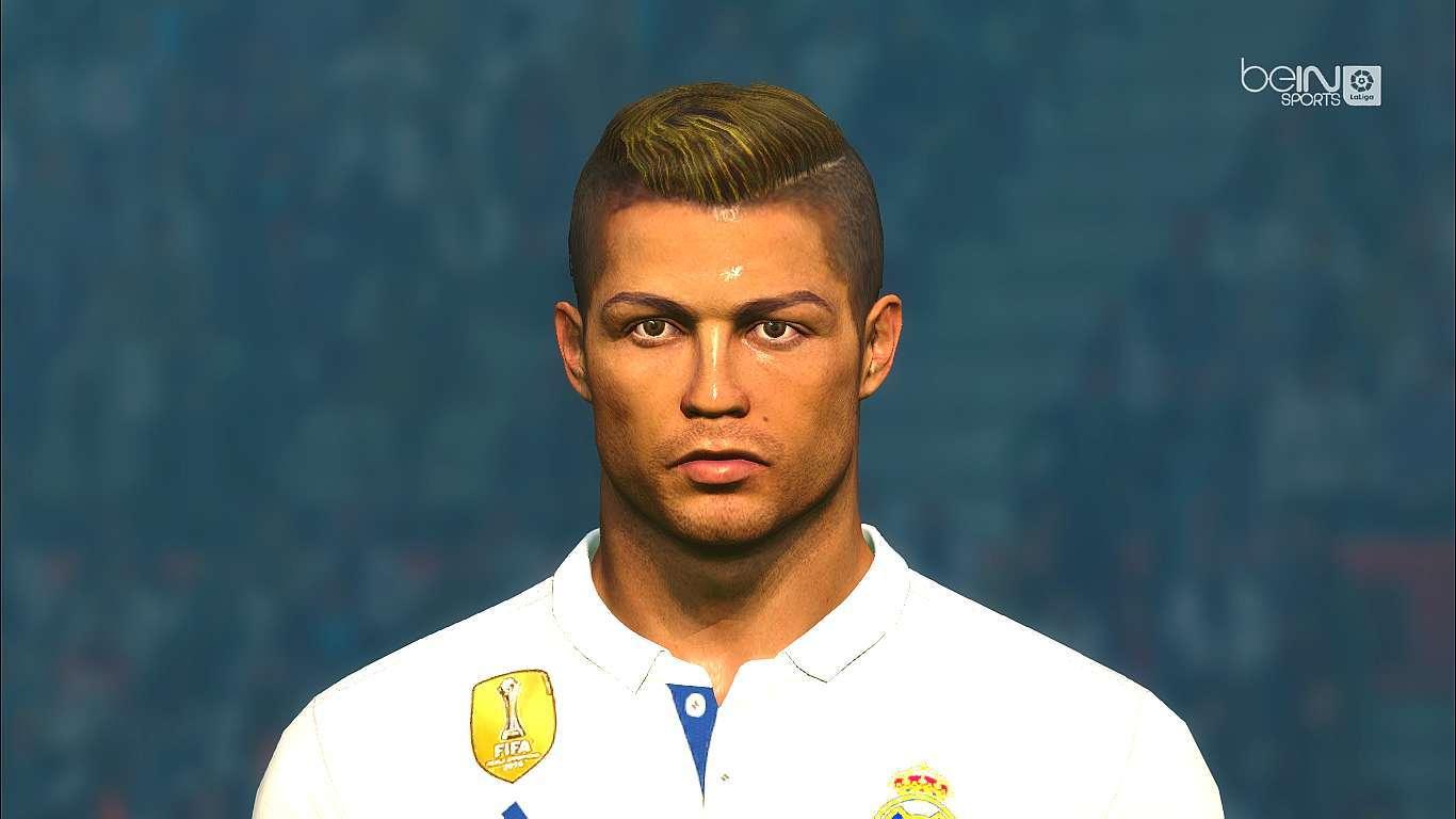 Cristiano ronaldo face with blonde hair pes 2017 for Cristiano ronaldo