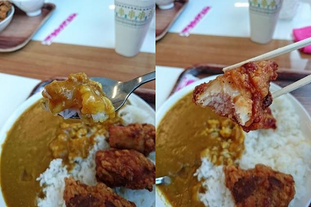 チキン唐揚カレーそばセットの写真