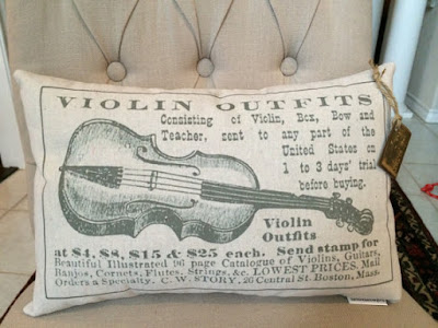Vintage Violin Pillow