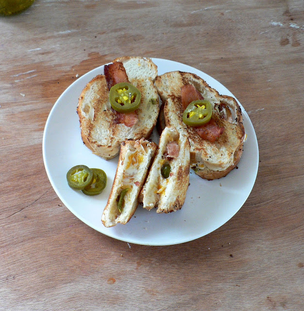 Jalapeno Popper Grilled Cheese Sandwich with Bacon recipe