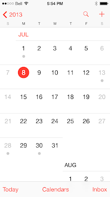 Now calendar display an hint when you have an event