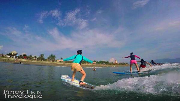 Ladies turn to surf