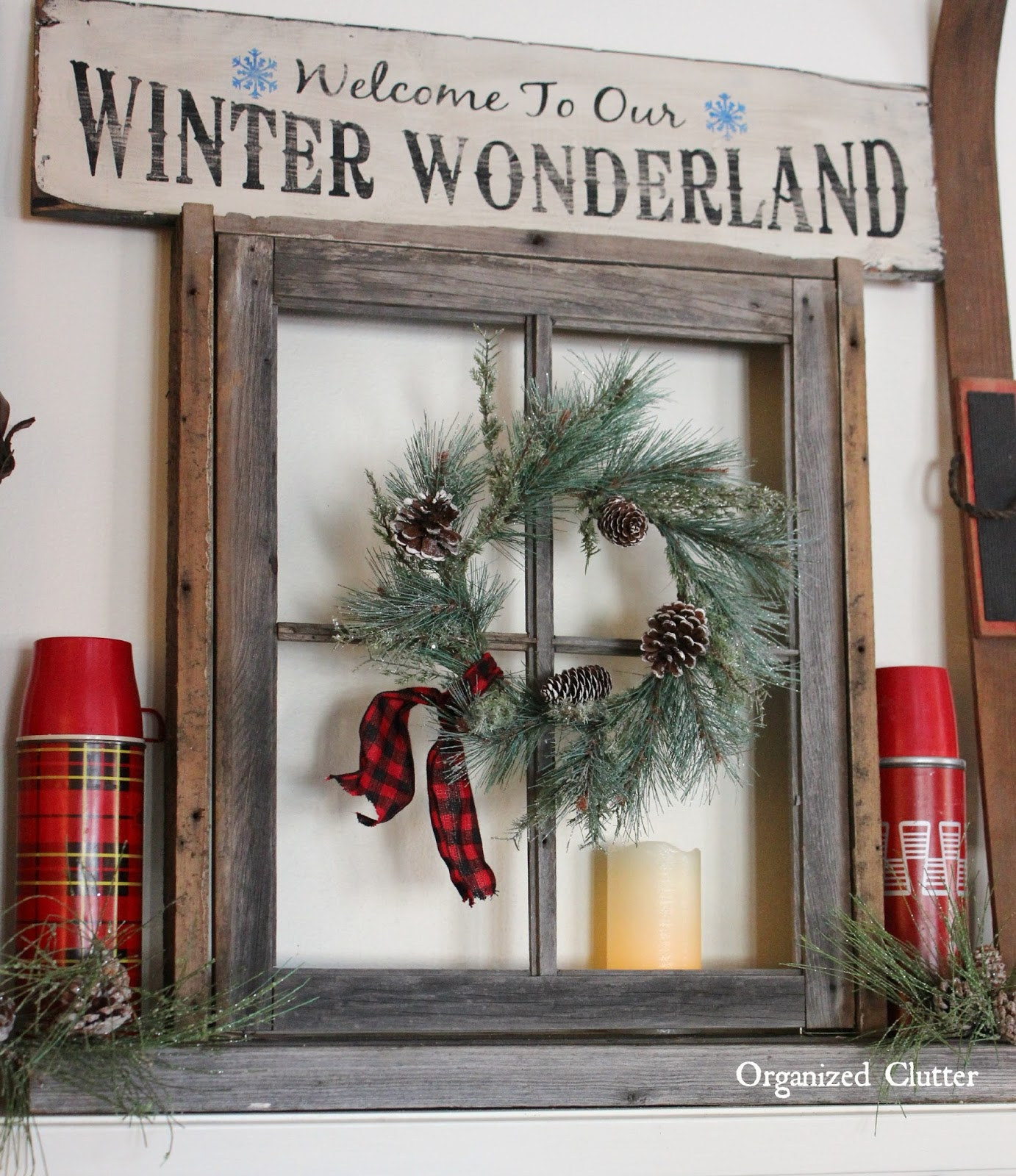 Winter Wonderland: Christmas Mantel 2015