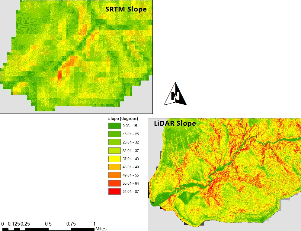 GIS nouveau: LiDAR vs  SRTM: Resolution, Accuracy & Scale