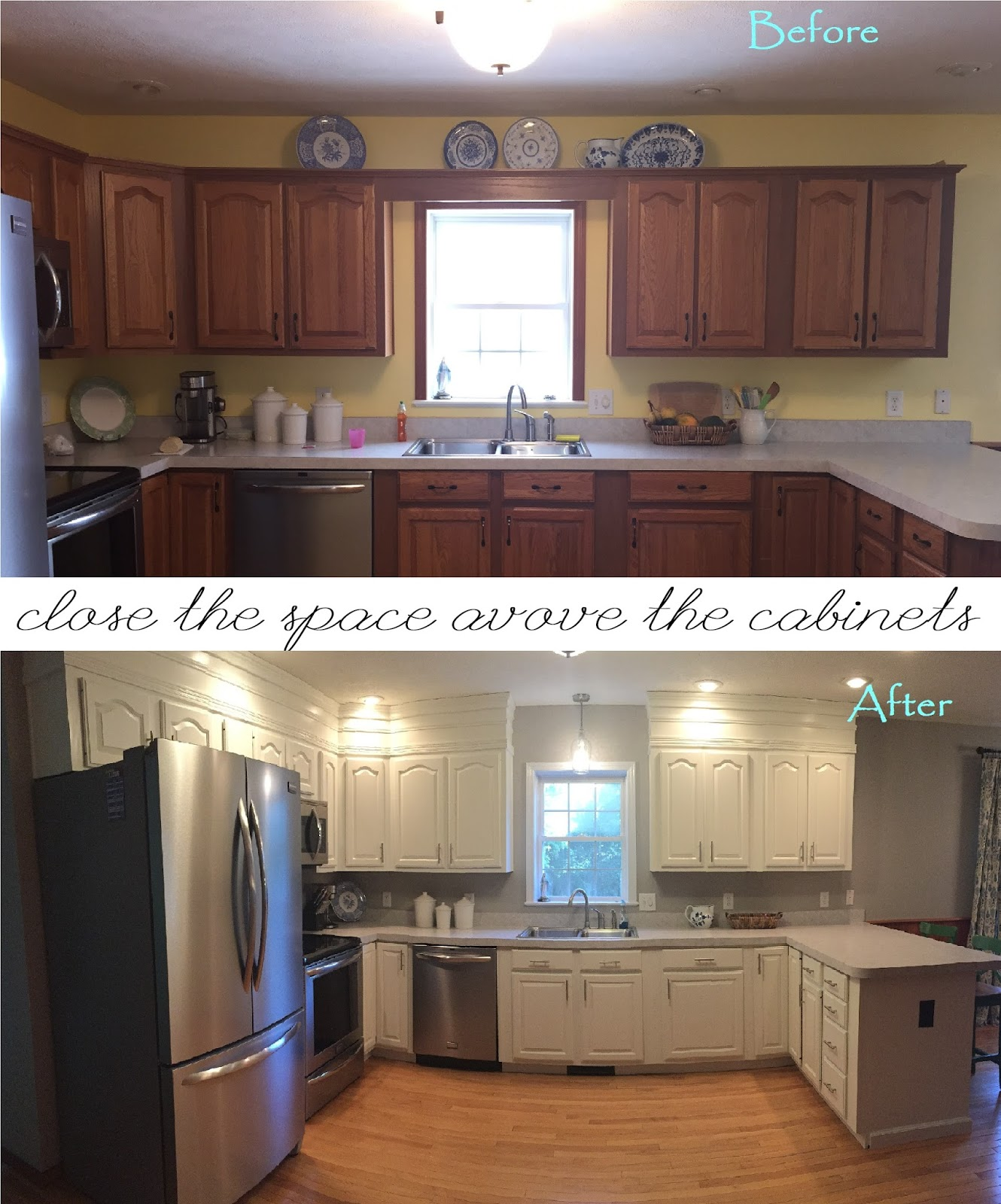 Space Above Kitchen Cabinets: Windingwood: Closing The Space Above The Kitchen Cabinets