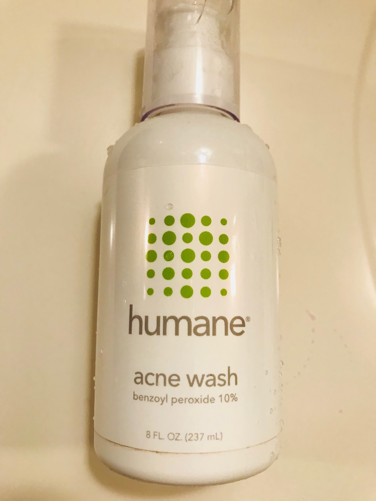 Humane Benzoyl Peroxide 10 Acne Treatment Wash Up on the ladder