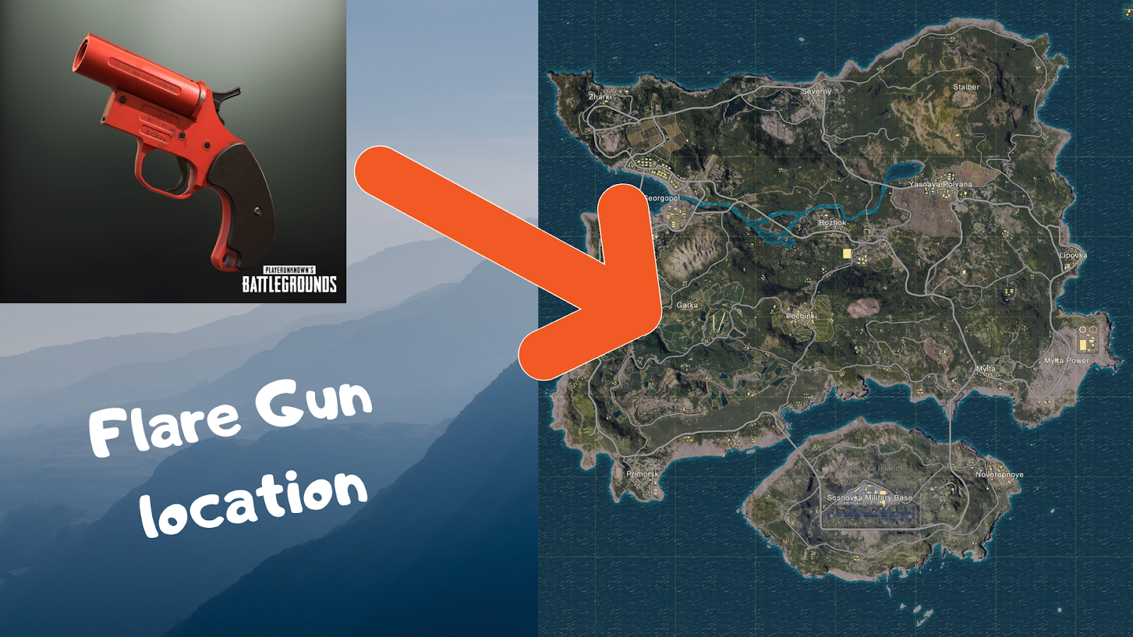Pubg Flare Gun Location Map