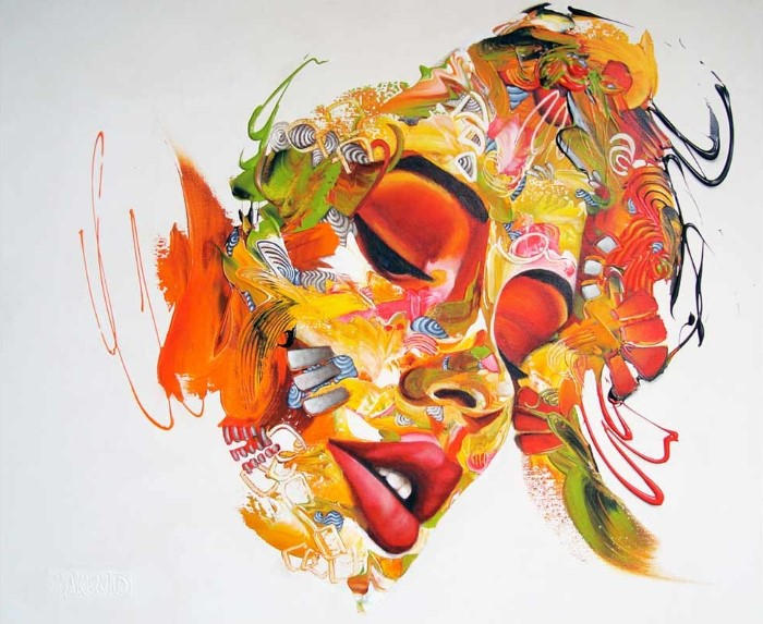 Сгусток энергии из цвета и линий