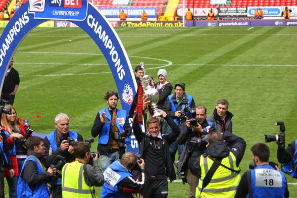 Eddie with the Championship Trophy