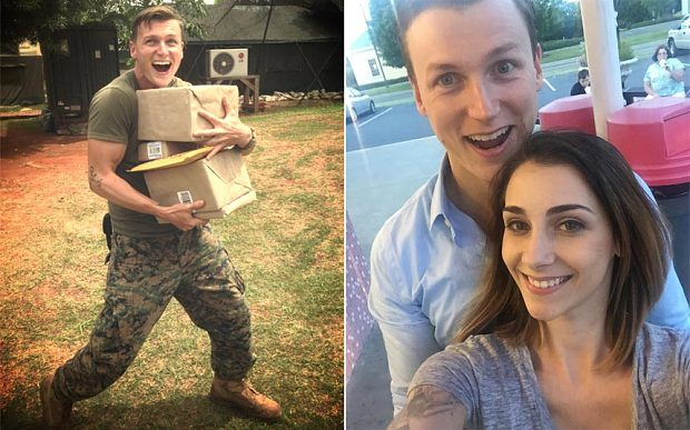 Internet romance: marine found love, becoming an Internet meme