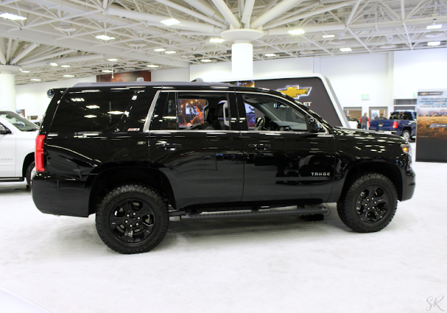 Black Chevy Tahoe at the Twin Cities Auto Show