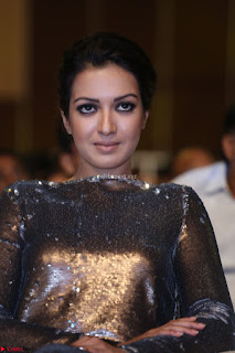 Actress Catherine Tresa in Golden Skin Tight Backless Gown at Gautam Nanda music launchi ~ Exclusive Celebrities Galleries 011.JPG
