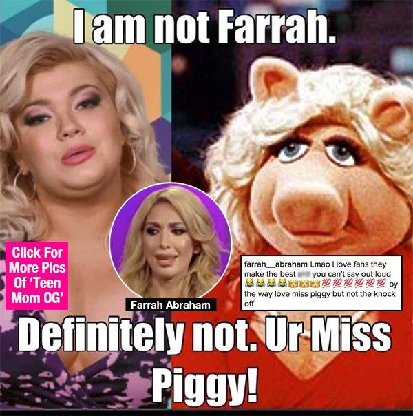 Farrah Abraham Slams Amber Portwood Again: You're A 'Knock Off' Miss Piggy