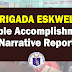 Brigada Eskwela 2019 Sample Accomplishment and Narrative Report