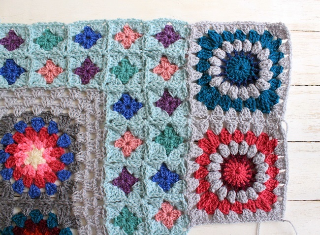 Brighton plaid crochet blanket