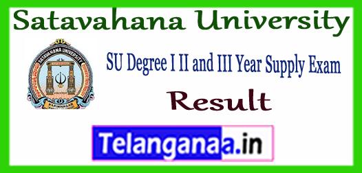 Satavahana University (SU) Degree Supply Revaluation / Recounting Results 2018