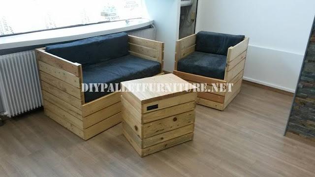 que os parece este sof silln y mesa hechos con tablas de palets son producto de la creacin de nuestros amigos edpalettes