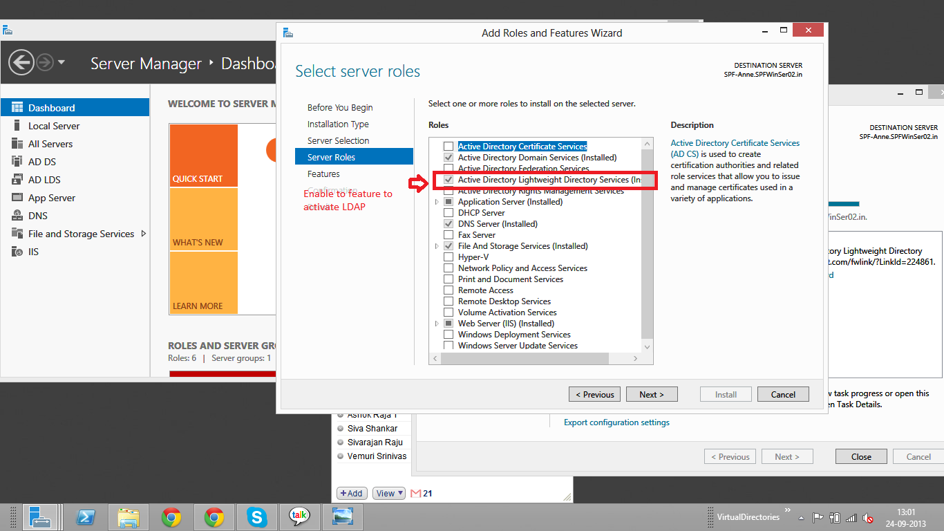 LDAP Server is unavailable in sharepoint 2013 ~ Microsoft