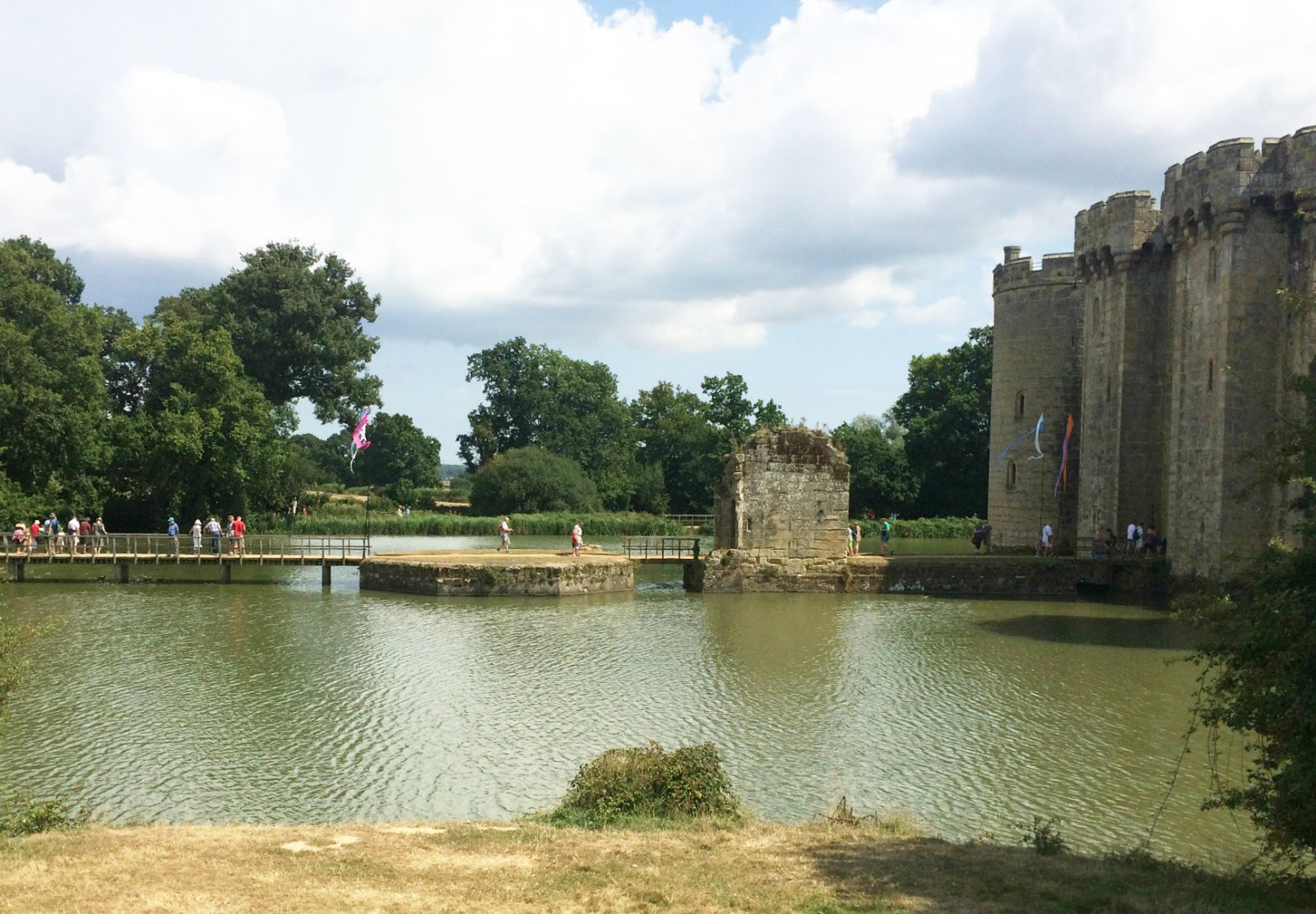 Side View of Bodiam Castle