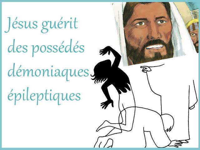 Jésus guérit des possédés et un épileptique