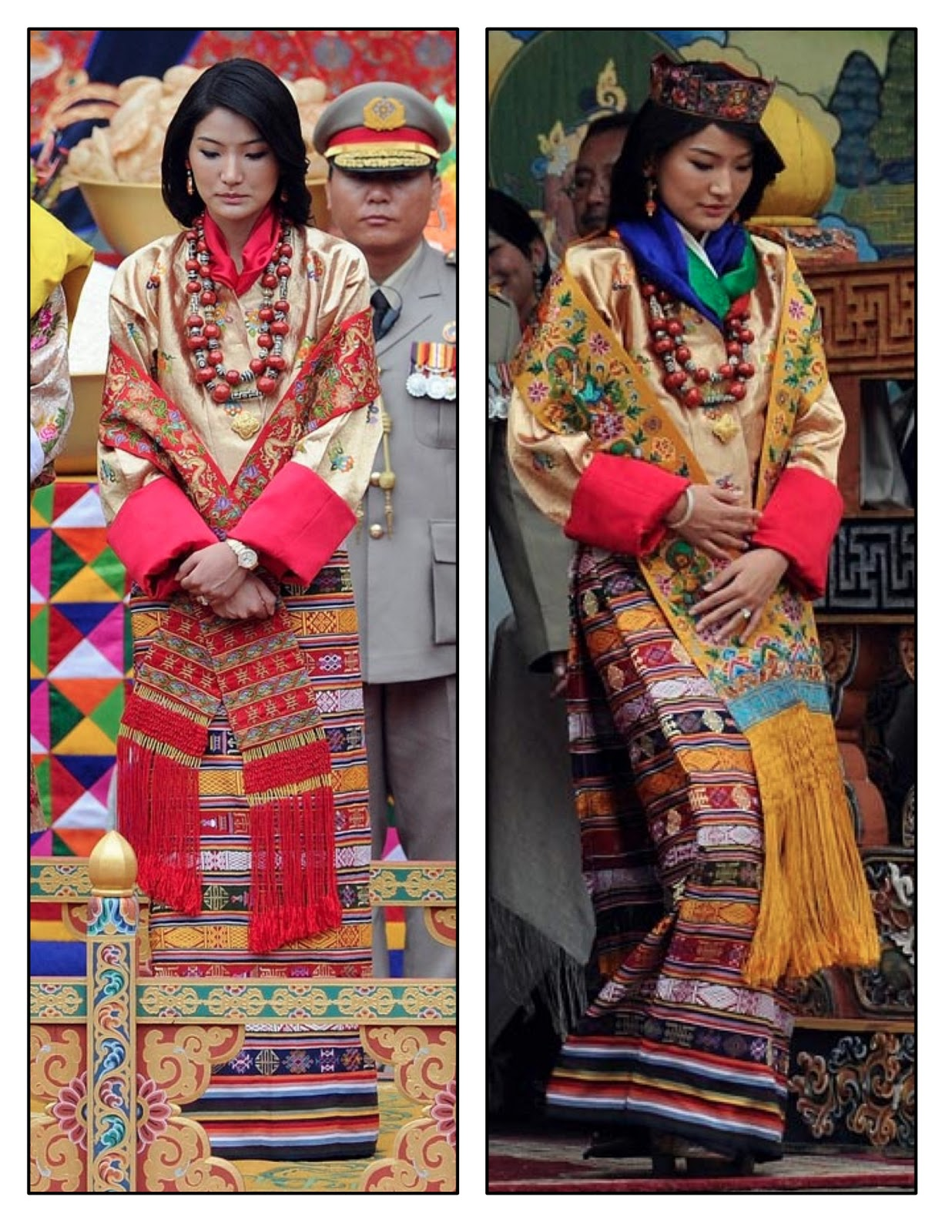 Queen Of Swords Tarot Art 16x20 Poster Print Psychedelic Gypsy: Green Tea: The King And Queen Of Bhutan's Wedding Outfits