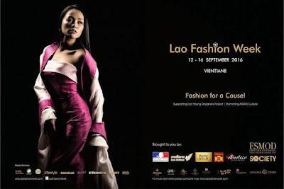 Lao Fashion Week 2016 poster banner
