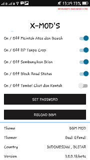 BBM X-MOD Black Edition Terbaru v3.0.0.18