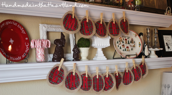 Merry Christmas Burlap & Plaid Banner