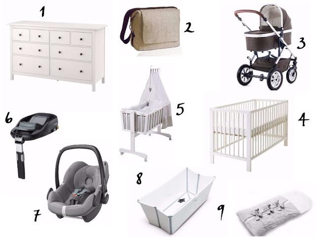 Erstausstattung Baby, Schwanger, Kinderwagen, Wickeltisch, Schlafsack, Babyschale, Wickeltasche, Babywiege