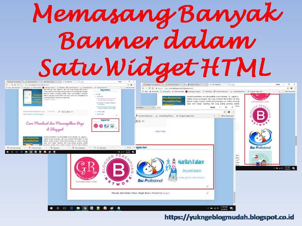 Memasang Banyak Banner dalam Satu Widget HTML