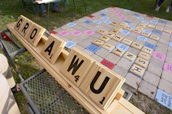 oversized Scrabble game for the garden or park