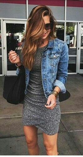 Grey elegant denim jacket