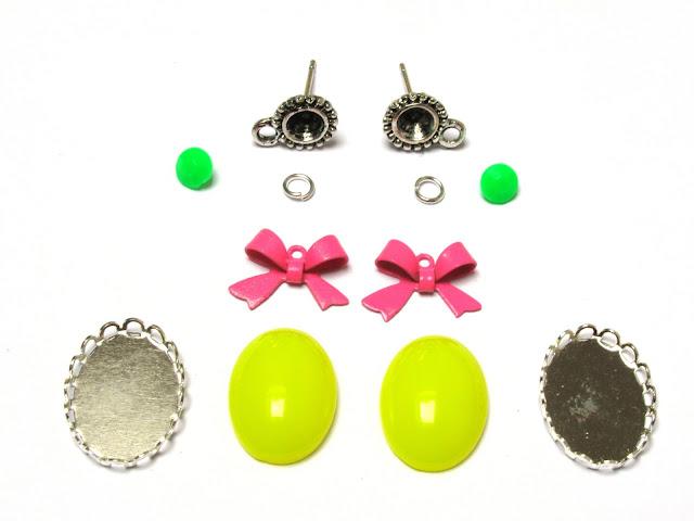 Materialen voor DIY oorstekers