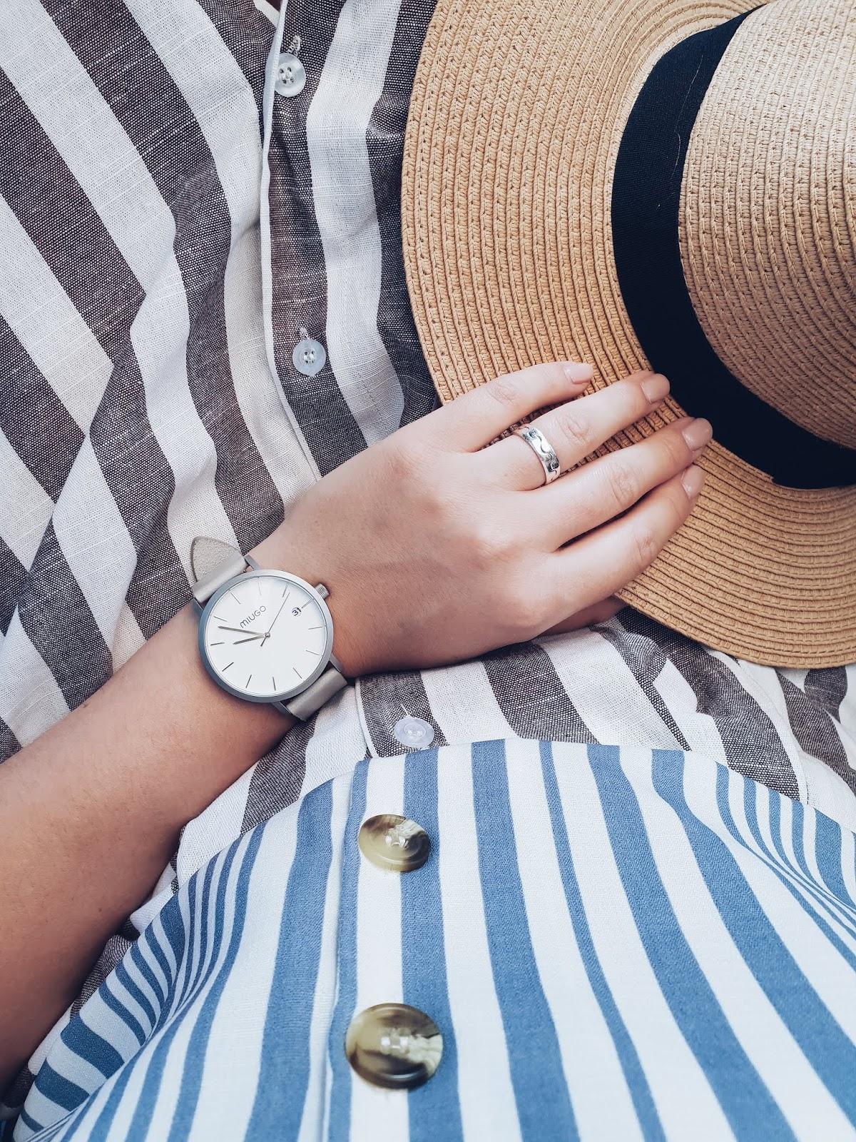 Button up midi skirt czyli lato w paski