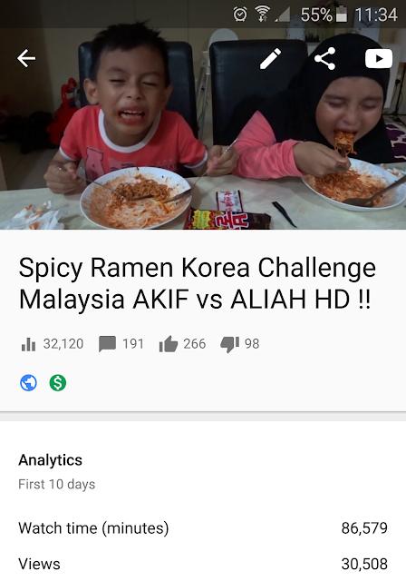 Spicy Ramen Korean Challenge Malaysia