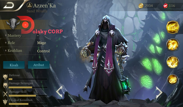 Mobile Arena : Hero Azzen'Ka ( Sand Wraith ) High Attack Builds Set up Gear