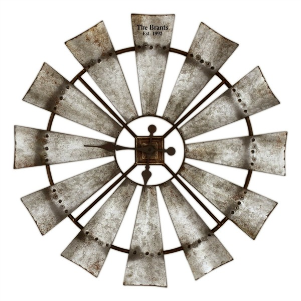 Rustic Windmill Clock