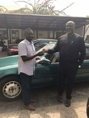 Photos: Dino Melaye gifts his special Assistant on Media a1992 Honda