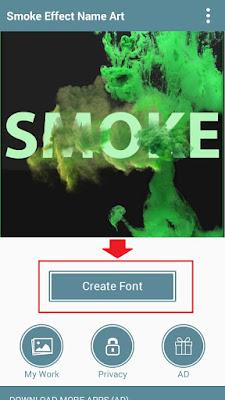 bagaimana membuat nama dengan efek asap di android