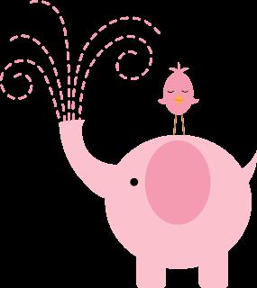 Elefante para baby shower en rosa
