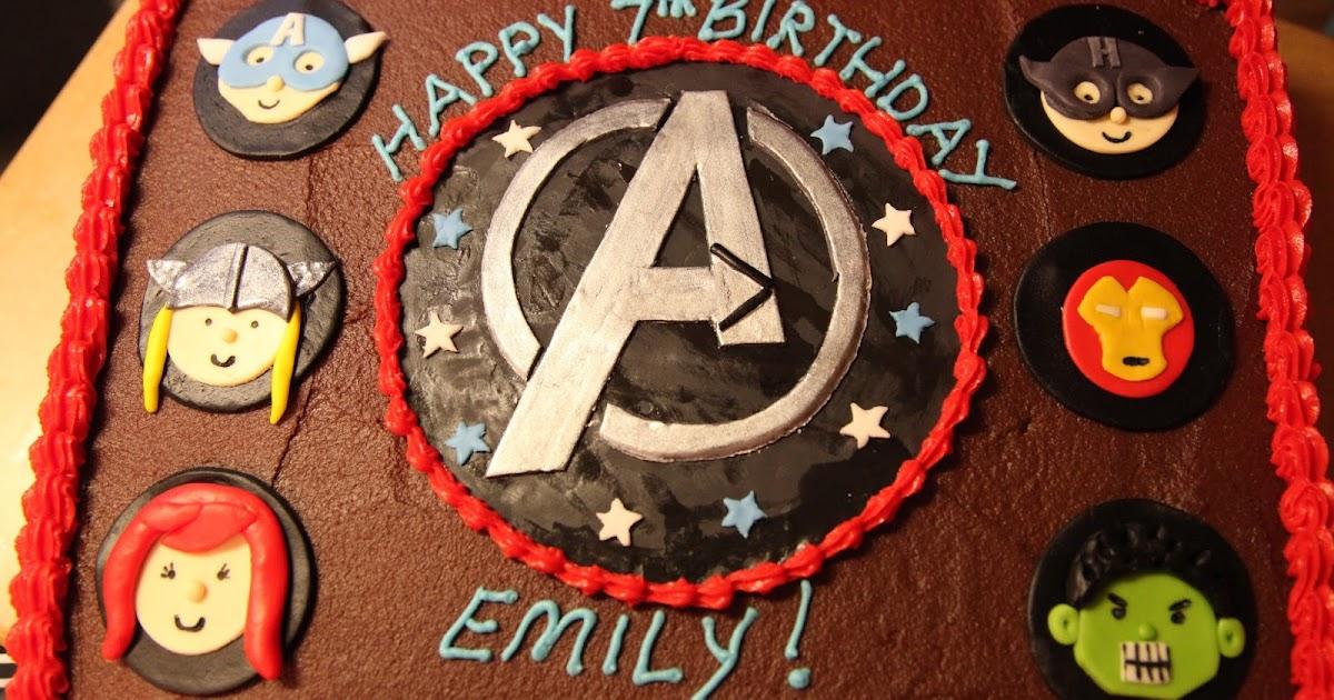 The Cake Box Girls The Avengers Birthday Cake