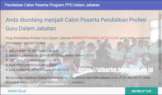 Info Pendidikan Profesi Guru 2018