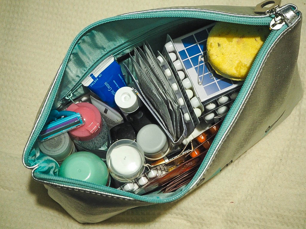 Must have cosmetics and medication for travelling