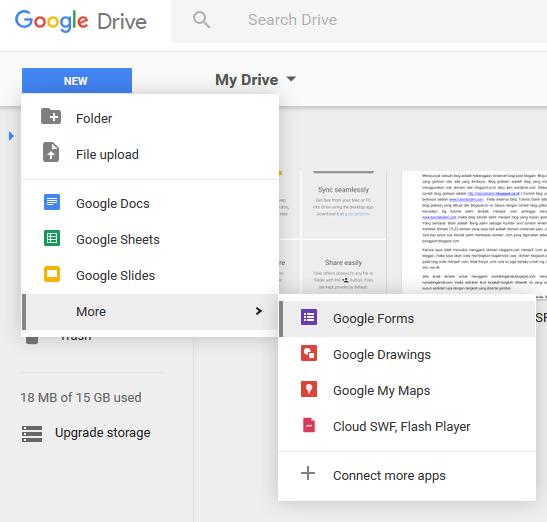 Cara membuat poling menggunakan Google Drive